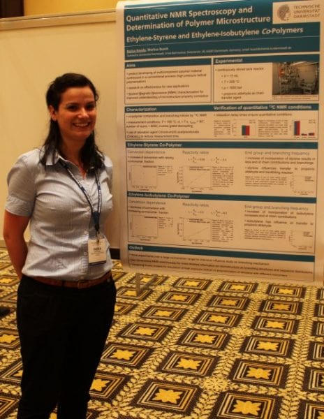 Ruzica Kasalo and the winning poster on NMR spectroscopy analysis of polymer microstructures