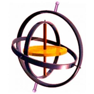 An artist's impression of a gyroscope