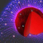 Artist's impression of gold-mercury nanoparticles