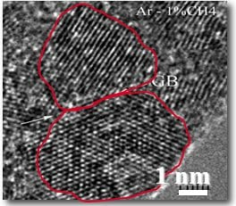 ultrananocrystalline diamond electron microscopy
