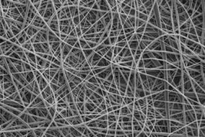 Microfibers produced using 10 percent by weight solutions of the polymer. Image: Mohammad Reza Abidian Lab.
