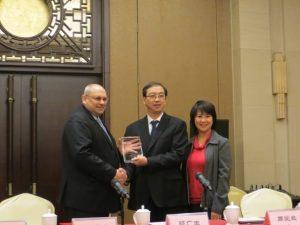 Prof. José Oliveira, Prof. Yijian Jiang, Vice-President of BJUT, and Ms. Stella Chou