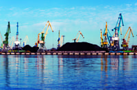 Coal transport ships are often used for importing coal to China and India