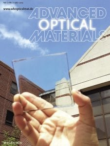 Advanced Optical Materials, Issue 7, 2014 -- Front Cover