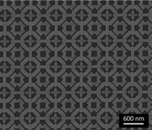 This is an overall pattern of the metamaterial absorber. Image: Bossard, Penn State.