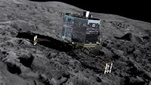 The Philae lander is scheduled to touch down on comet 67P in November. © 2014 ESA/Rosetta/NAVCM