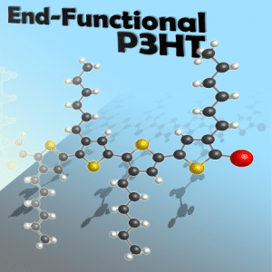 End-Functionalized Poly(3-hexylthiophene), commonly known as P3HT.