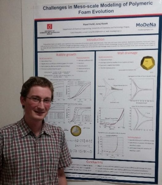 Pavel Ferkl and the winning poster on polymeric foam evolution
