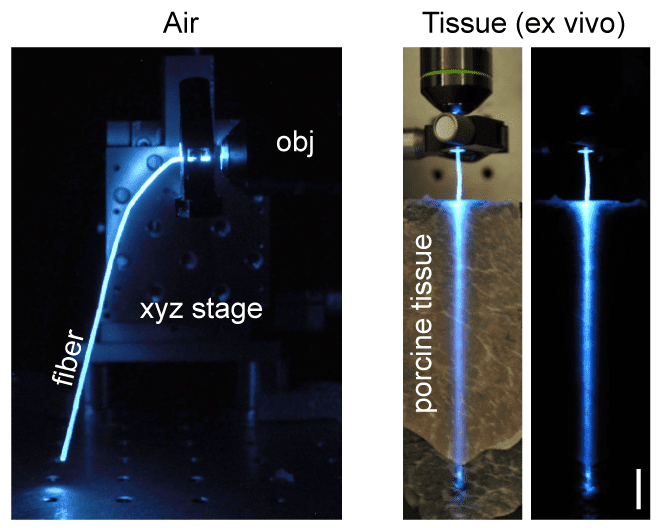 Performance of hydrogel optical fiber