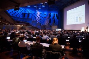 Main lecture hall during plenary sessions. Image copyright Kremer, together concept.