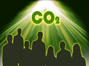Illuminations on the utilization of CO2: the illustration depicts the grand challenge that the global community must confront in the face of CO2 induced climate change in order to achieve a sustainable environment, a renewable energy supply and a carbon neutral economy. Graphic courtesy of Chenxi Qian.