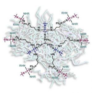 Star dendritic molecular brushes
