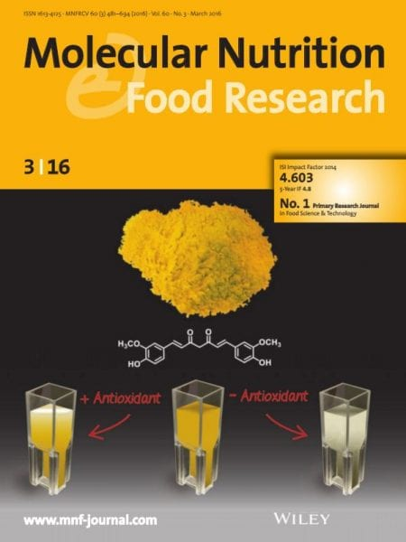 Molecular Nutrition & Food Research front cover March
