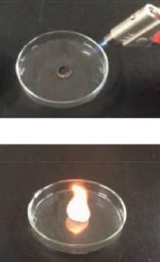 Flammability test of solid-electrolyte battery