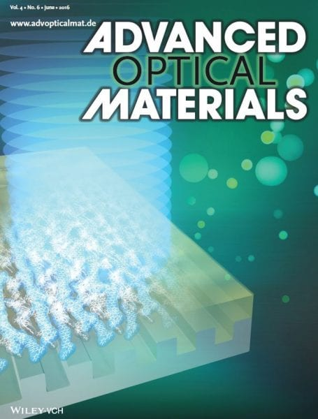 Advanced Optical Materials front cover June