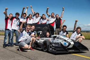 Formula Student car broke a world record accelerating from 0 to 100 km/h in 1.513 seconds