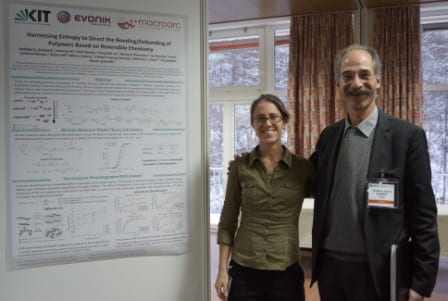 Nathalie Guimard, Friedrich Georg Schmidt, and their winning poster on the Bonding/Debonding of polymer systems