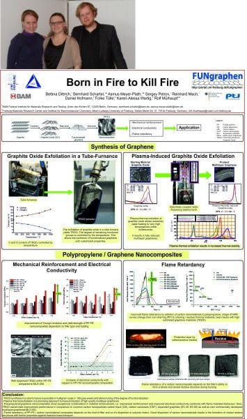 The winning poster on thermally reduced graphite oxide