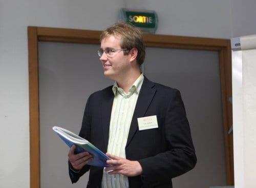 Tom Jansen, winner of the prize for best presentation at the WPPRE workshop