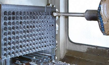 drilling a cast material