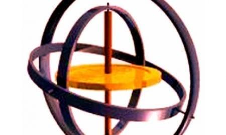An artist's impression of a gyroscope