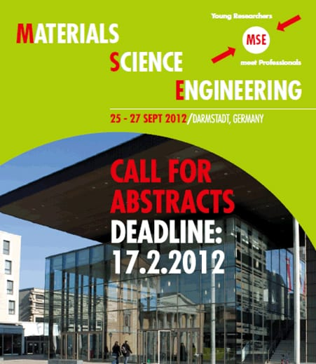 MSE Congress Calls for Abstracts