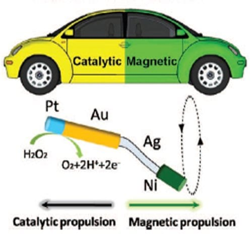 Multimetallic Nanomachines: Magnetic and Chemical Power Combine