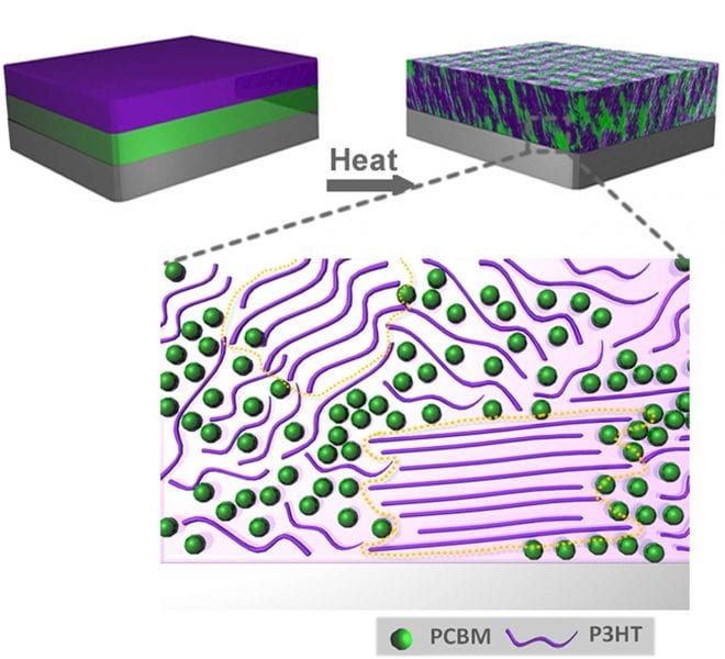 Morphology Changes in Plastic Solar Cells