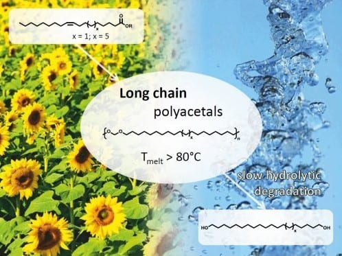 Variable Chain-Length Polyacetals from Plant Oils