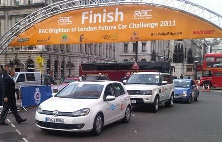 Volkswagen's winning entry into the 2011 RAC future car challenge - a Golf powered by lithium-ion batteries. Image: Volkswagen.