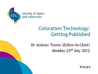 Coloration Technology: Getting Published