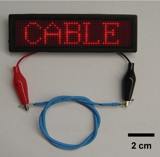 Battery or Bracelet? Cable-Type Flexible Lithium-Ion Batteries