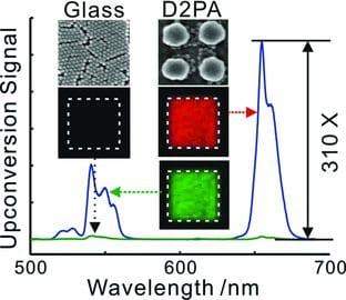 Nanoantenna-enhanced lanthanide upconversion