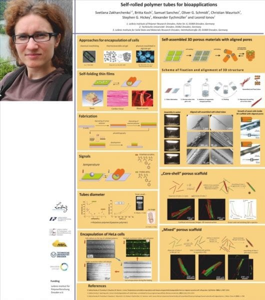 Svetlana-Zakharchenko-and-the-winning-poster-on-polymer-tubes-for-bioapplications