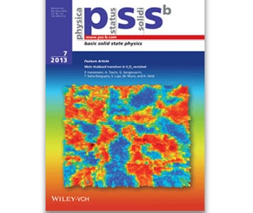 Most accessed papers in physica status solidi for July 2013