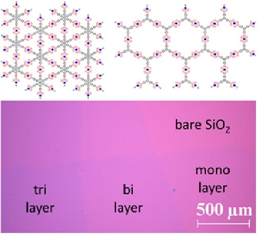 Free-standing organometallic sheets and their multilayers on solid substrates