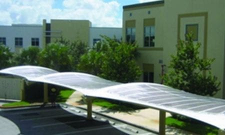 Solar cell installation by Konarka, Inc.