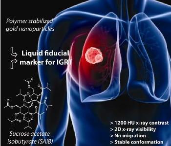 Liquid gold nanogels enhance radiation therapy
