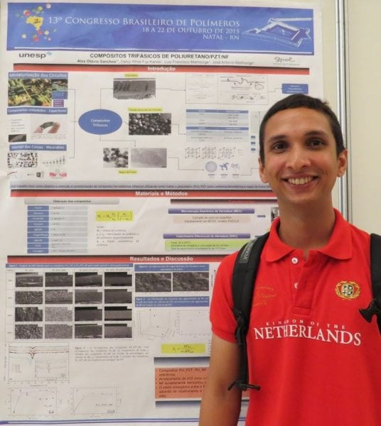 Alex Otávio Sanches and the winning poster on three phase composites