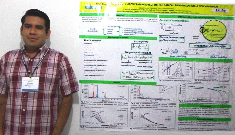 David Victoria-Valenzuela and the winning poster on auto-acceleration in free-radical polymerization