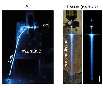 Fiber optics goes biocompatible and implantable