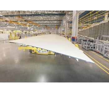 High-performance wings in production