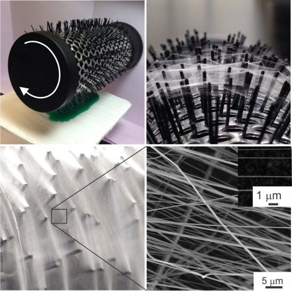 Touch- and brush-spinning of nanofibers