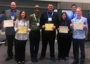 Winners of the Undergraduate Research Poster Prizes with Matteo Cavalleri, Editor-in-Chief of the International Journal of Quantum Chemistry