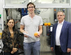 Plastic made from orange peel and CO2