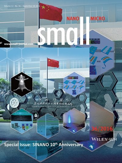 New special issue in Small celebrates 10 years of research at SINANO