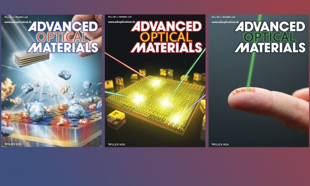 Advanced Optical Materials Highlights Biosensors, Metasurfaces, and a Caterpillar Robot