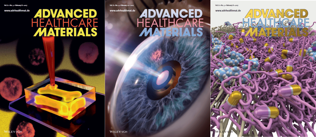 Featuring Biofabrication, Intraocular Sensors and More: February's Advanced Healthcare Materials Covers
