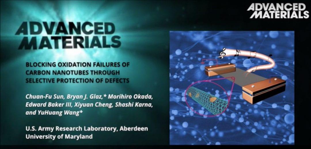 Blocking oxiadation failure in carbon nanotubes