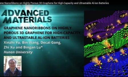 Greaphene foam as cathode for aluminum batteries